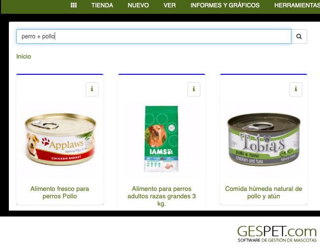 buscador productos tpv mascotas