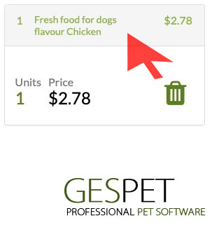 animal shop software ticket products