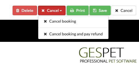 delete booking and pay refund software