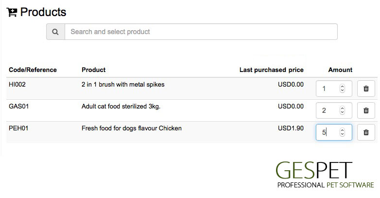 pet shop software send orders by email