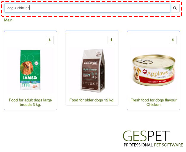 pet store software products combined search