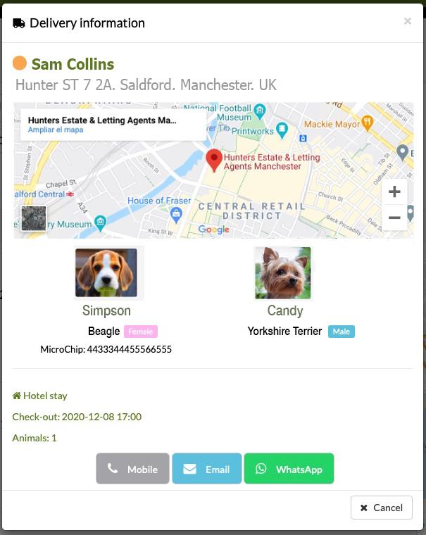 pet transport free app