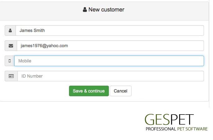 petshop app new customer
