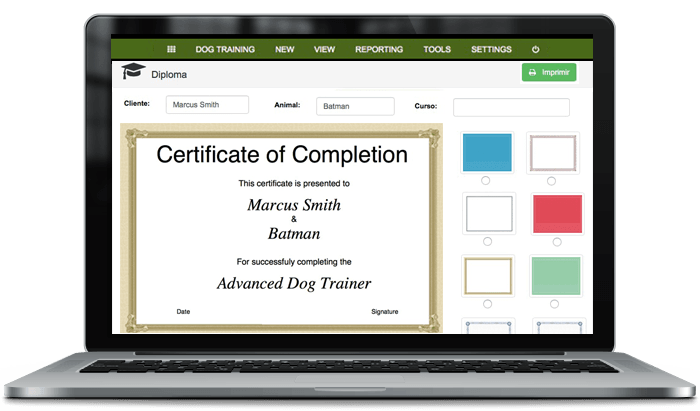 training dogs software