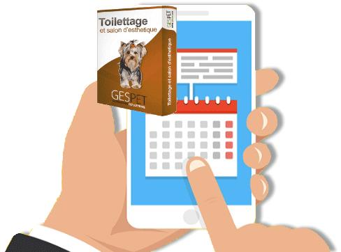 rappel automatique software toilettage animal