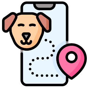 transporte animal de estimação mapa de distribuição
